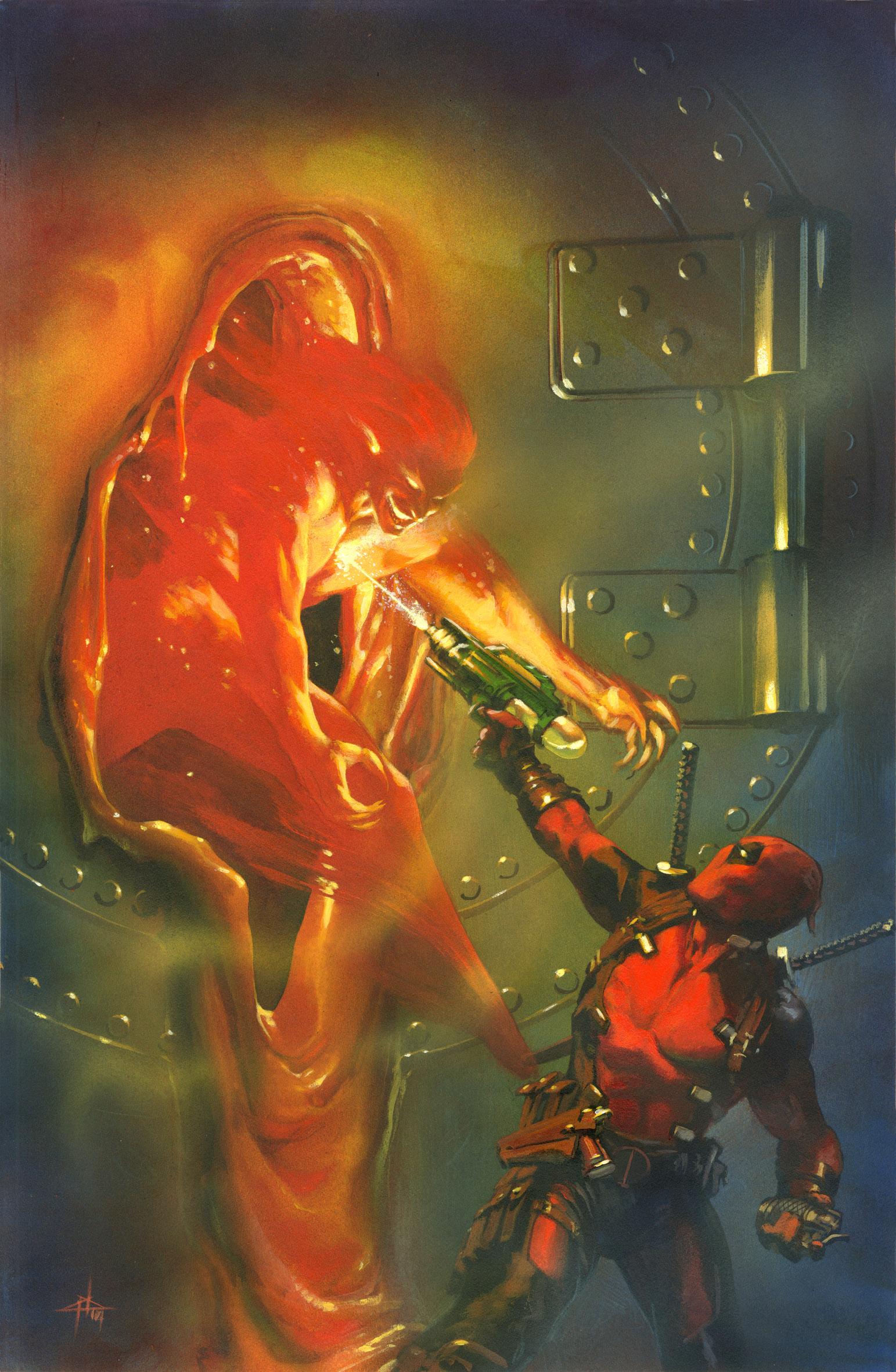 La portada variante de 'Uncanny Avengers' que se mofa del póster de 'The Avengers'