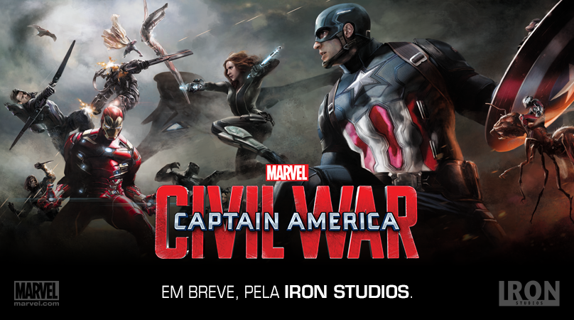 La batalla de Capitán América: Guerra Civil en un nuevo arte conceptual